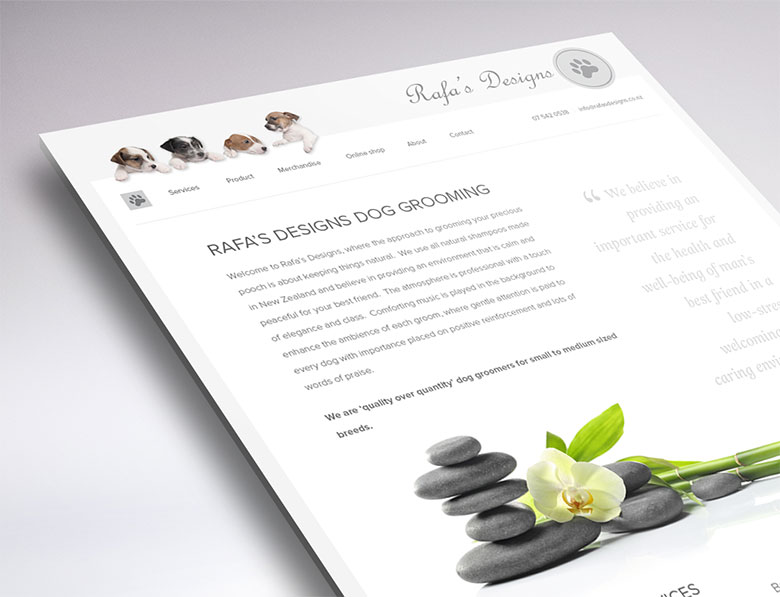 Rafa's Designs website design