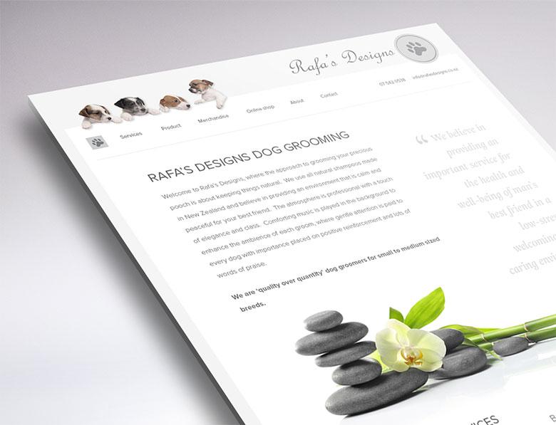 Rafa's Designs website design