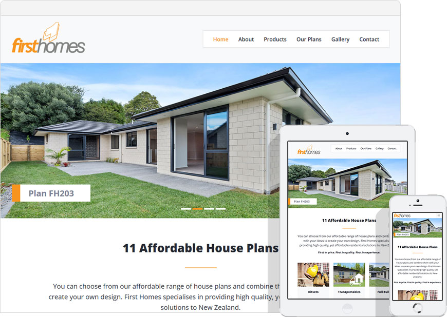 screenshot website first homes