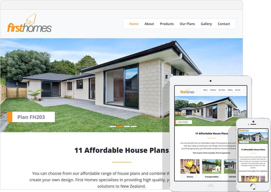 screenshot website first homes