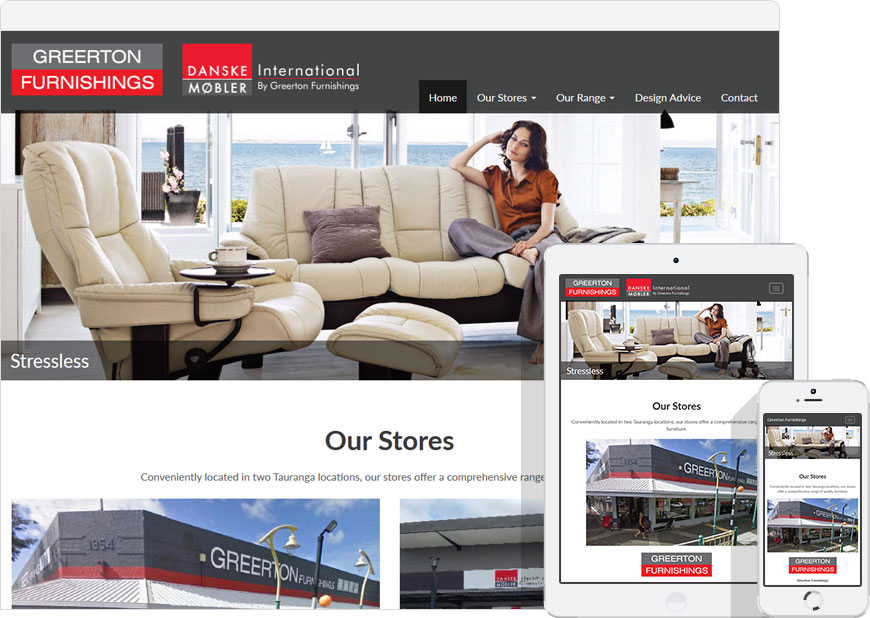 screen shot website greerton furnishings