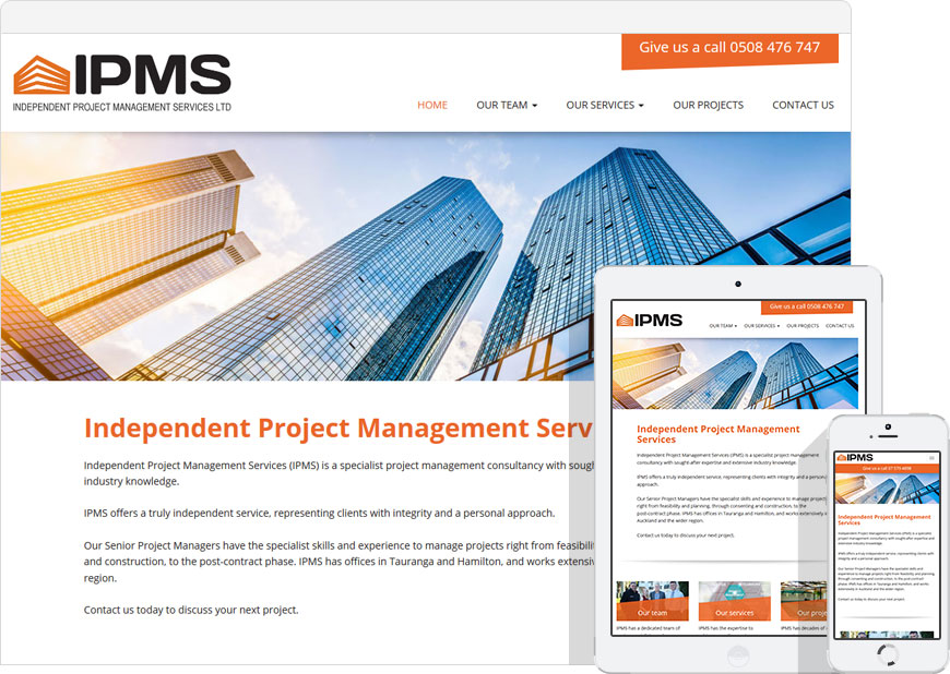 screen shot IPMS website