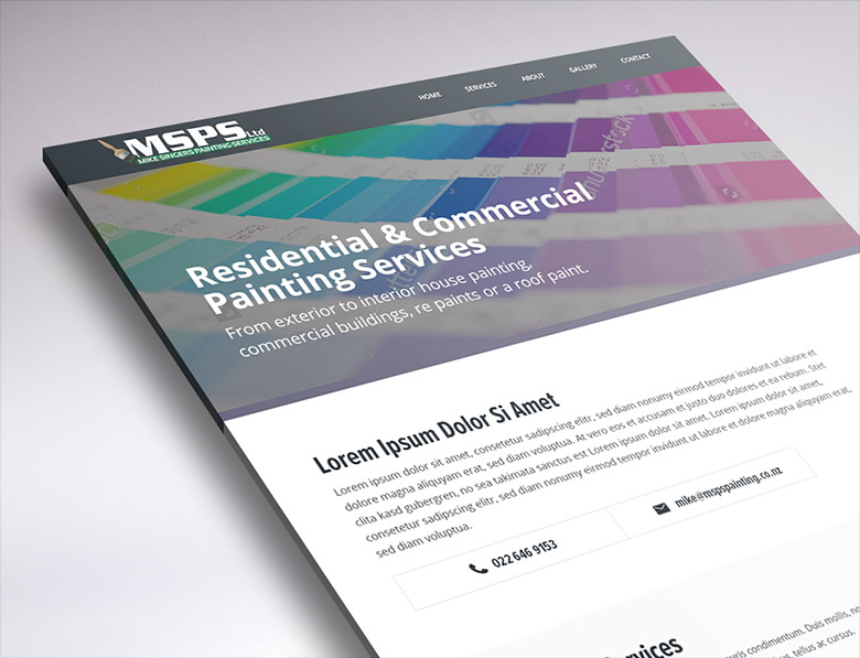 website design for MSPS