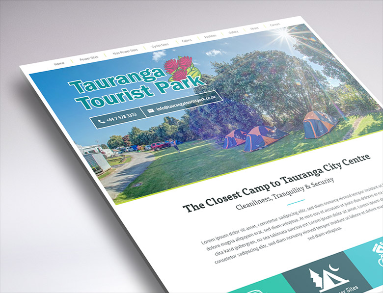 website design for Tauranga Tourist Park