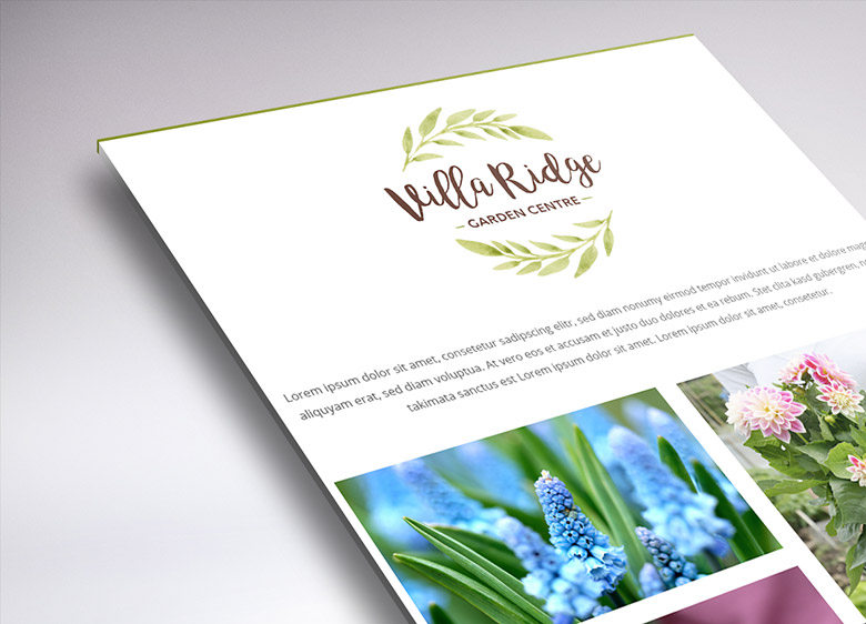 Working on the temporary website of Villa Ridge Garden Centre