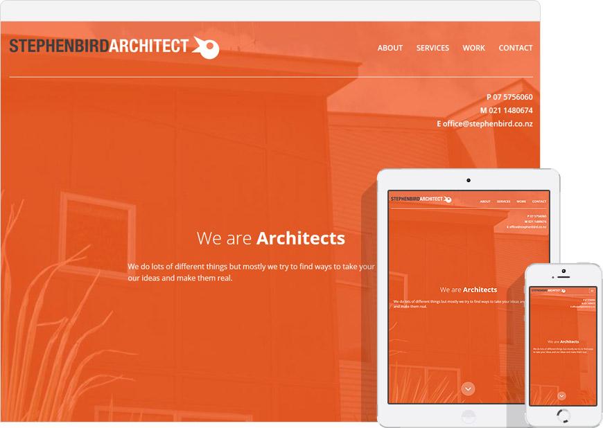 screen shot website for Stephen Bird