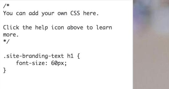 wordpress 4.7 custom css
