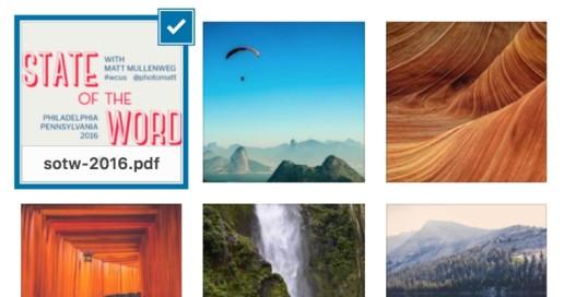 wordpress 4.7 PDF thumbnail previews