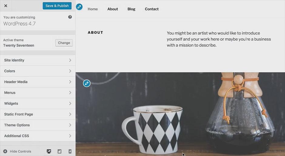 wordpress 4.7 starter content