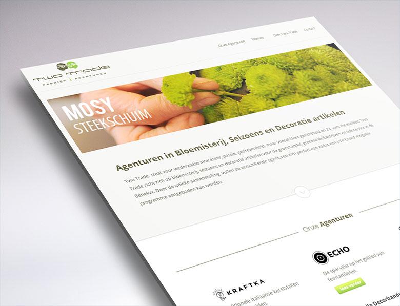 website design for Two-Trade