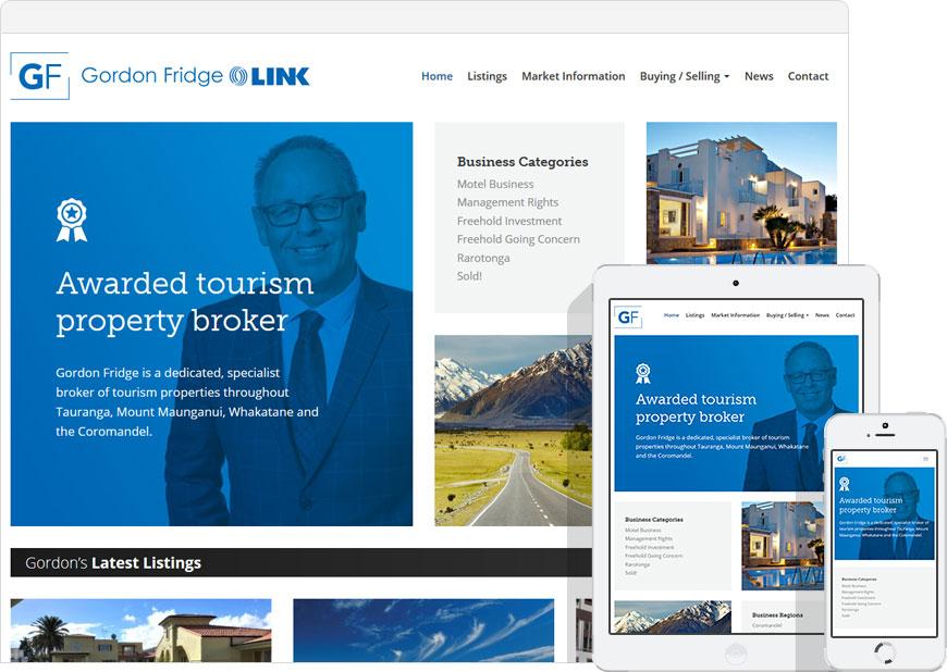 screenshot of the NZ Motel Sales website