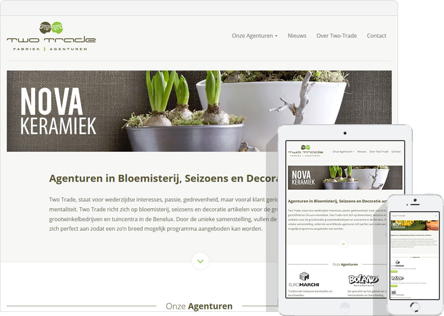 screen shot Two-Trade website