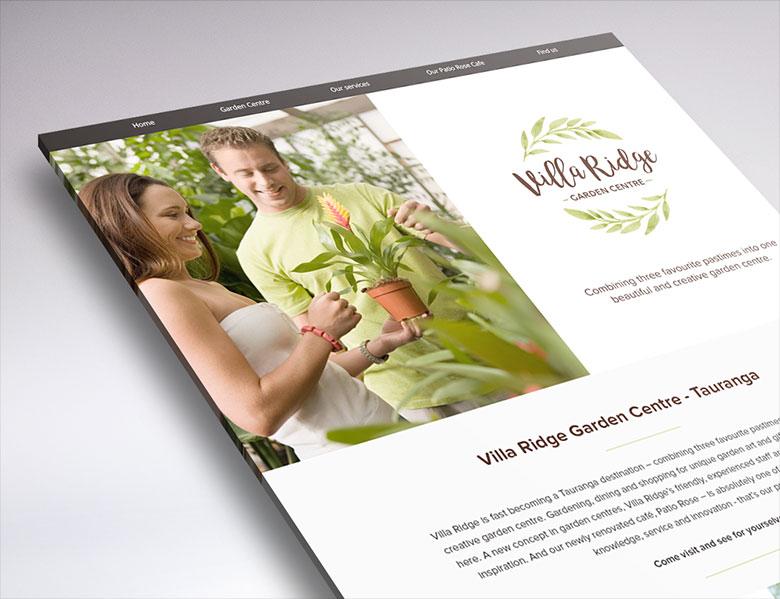 One page web design Villa Ridge