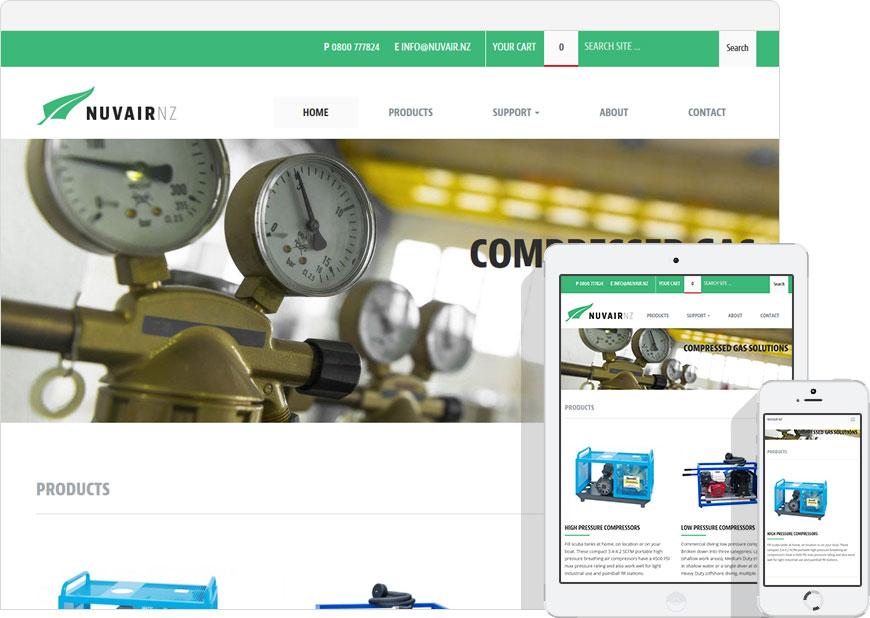 Woocommerce website for Nuvair NZ
