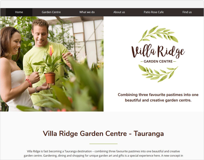 website villa ridge garden centre