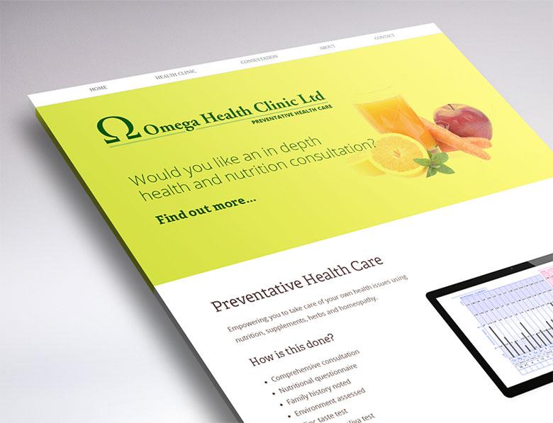 web design for Omega Health Clinic