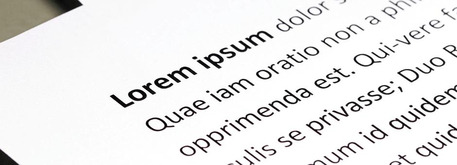 Lorem Ipsum expained