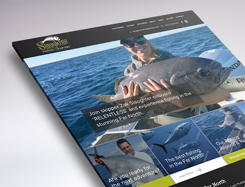 web design peek slaughter fishing