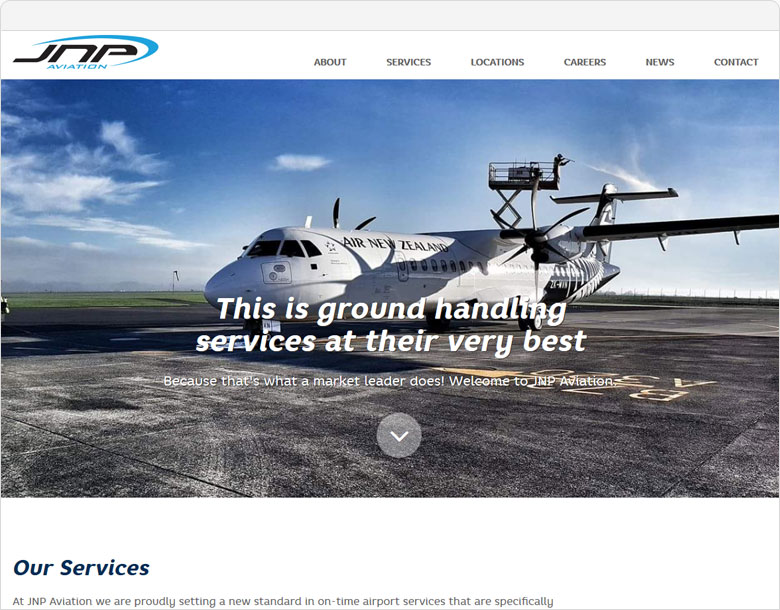 screen shot website jnpaviation.co.nz