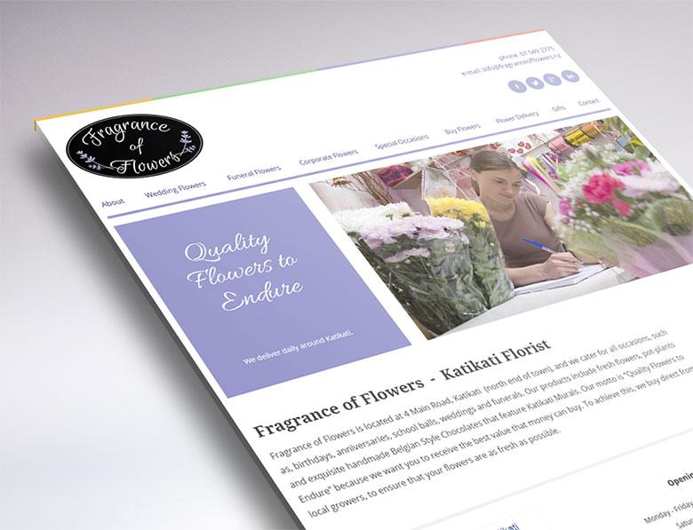 web design for fragrance of flowers