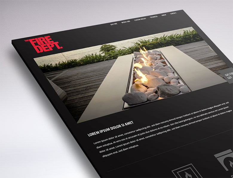web design for the fire department