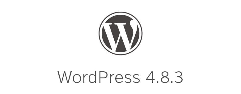 wordpress version 4.8.3