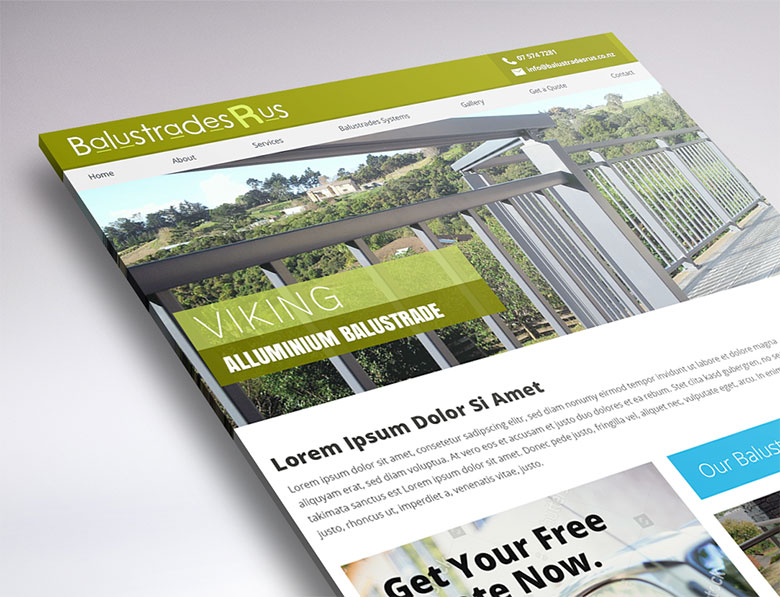 website design for Balustrades R Us