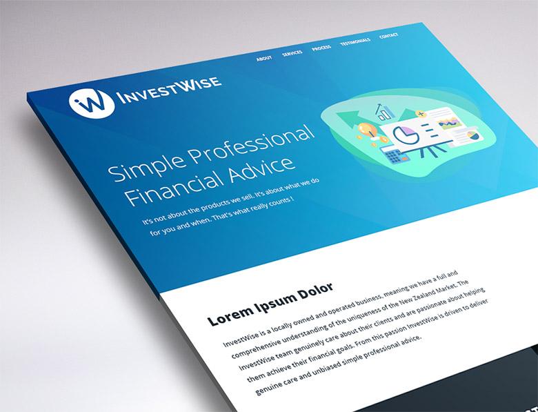 website design for InvestWise
