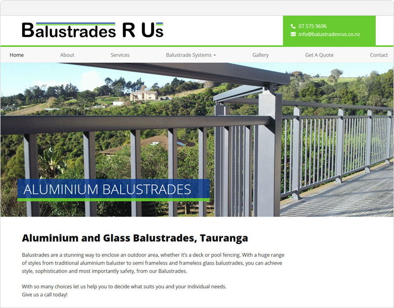 Up and running the website for Balustrades R Us
