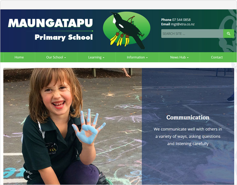 WordPress website Maungatapu School