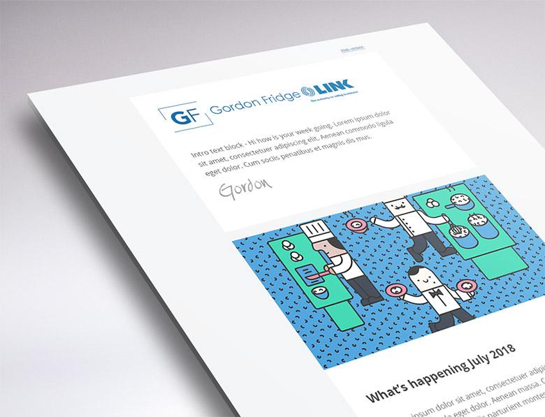 MailChimp newsletter design
