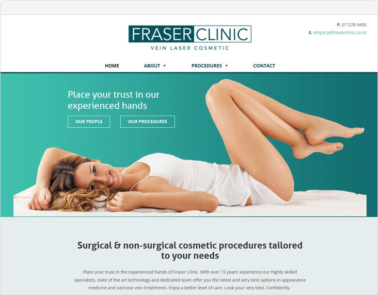 Fraser Clinic website