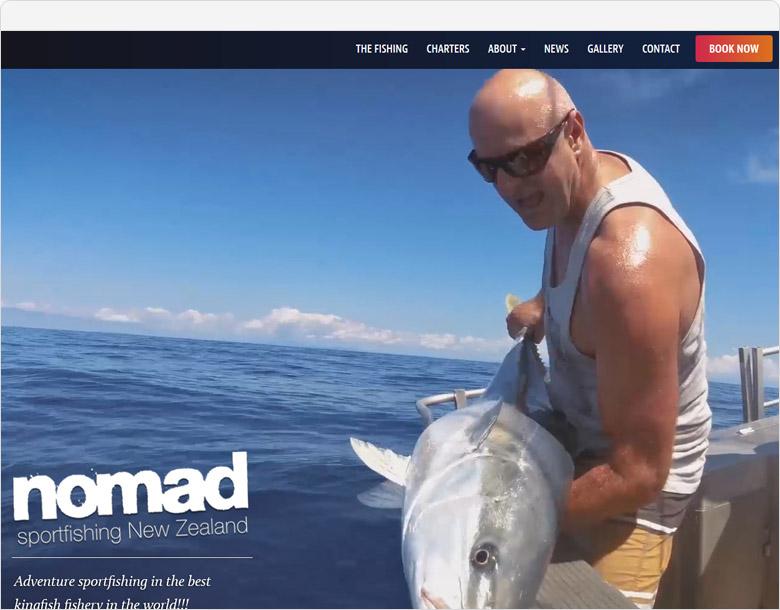 WordPress website Nomad Sportfishing
