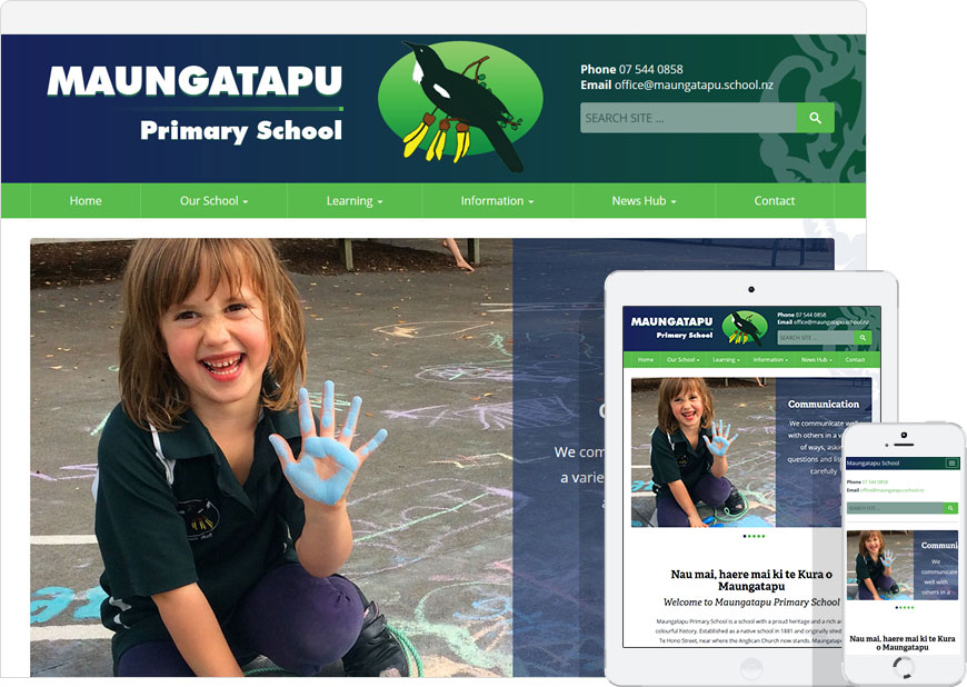 WordPress website for maungatapu school