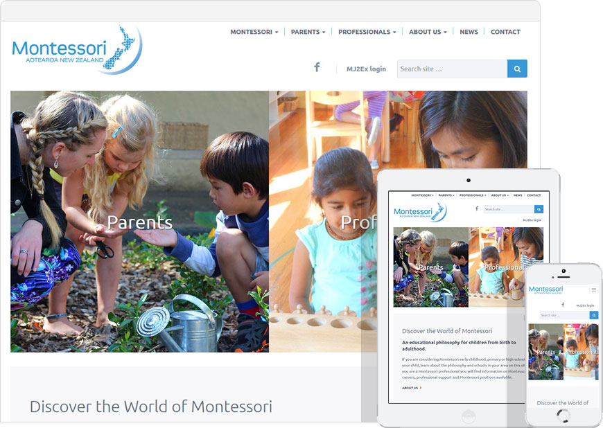 montessori web design