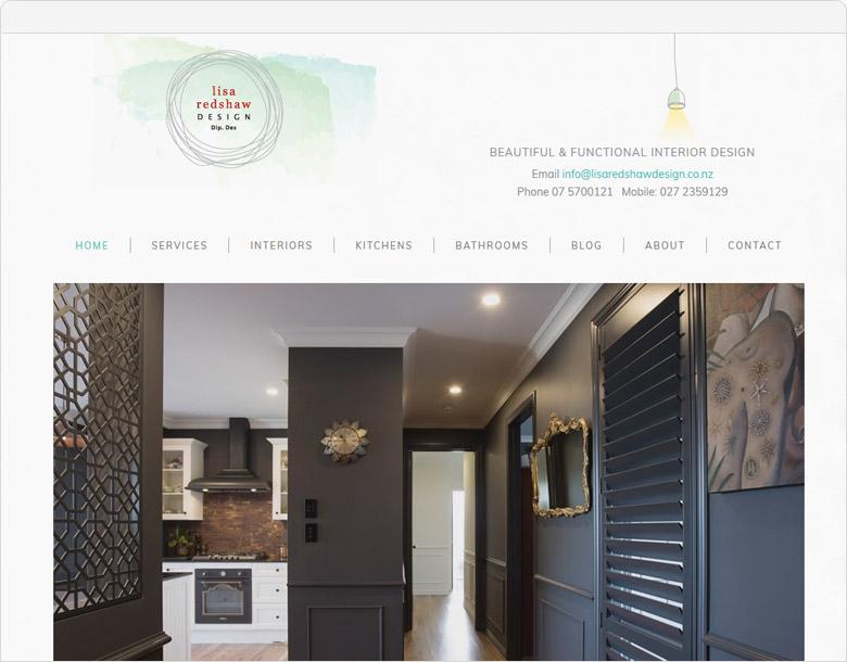 screenshot website lisa redshaw design