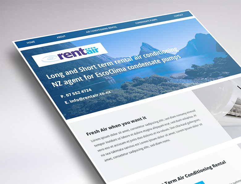 one-page website design for Rentair