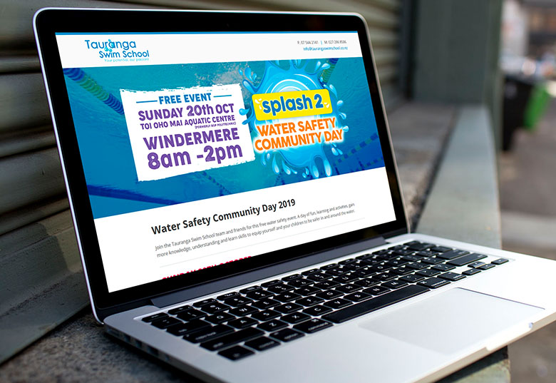 Website tweak for Tauranga Swim School