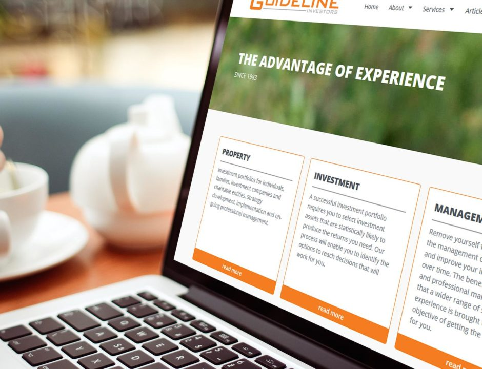 Web design refresh for the Guideline Investors website
