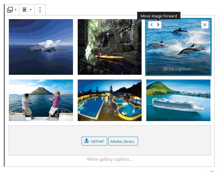 wordpress 5.3 image gallery reorder