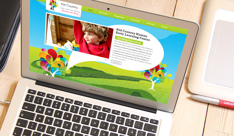 WordPress website Kid Country Kumeu