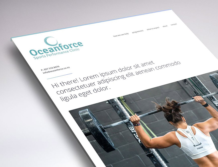 Website design for Ocean Force