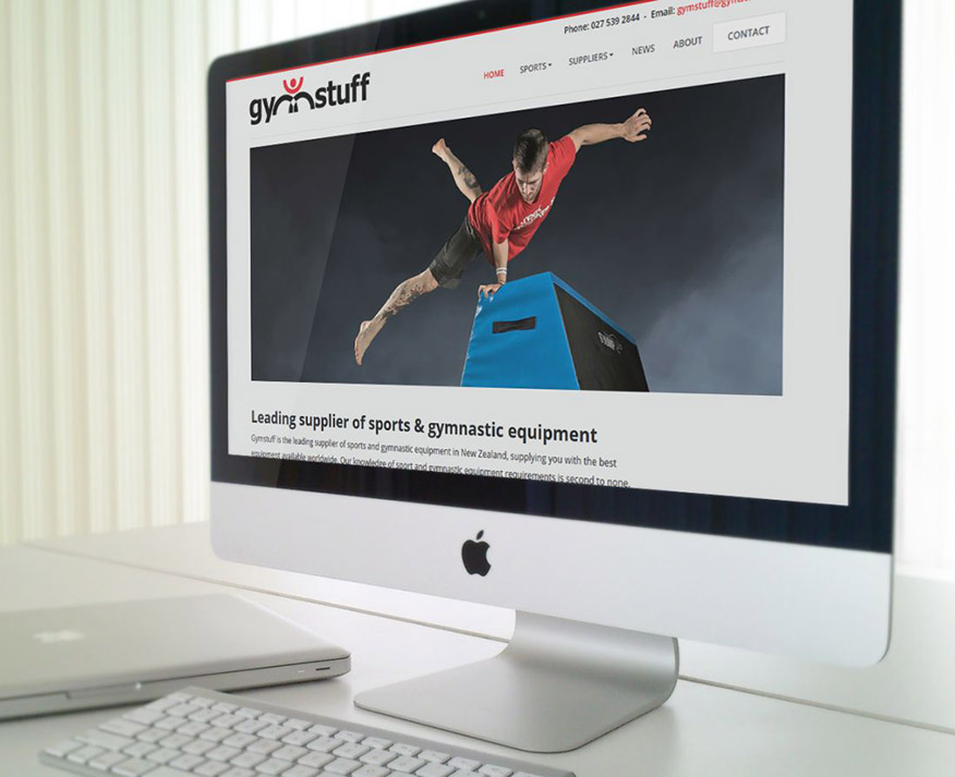 WordPress website Gymstuff