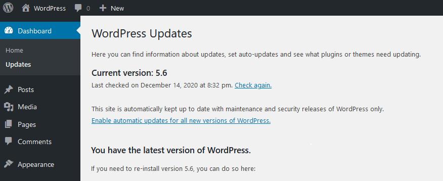 Auto-Updates For WordPress Core