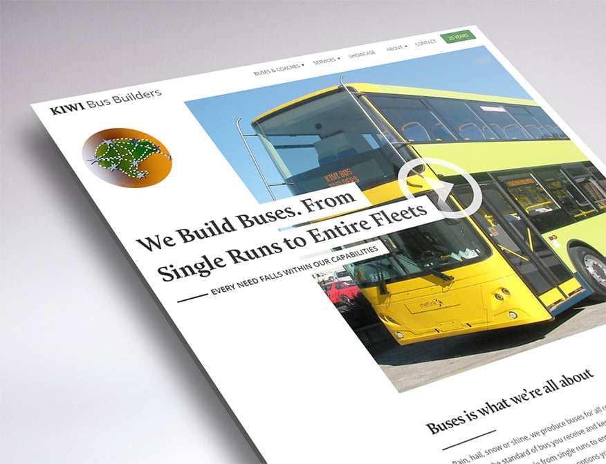 website design of Kiwi Bus Builders