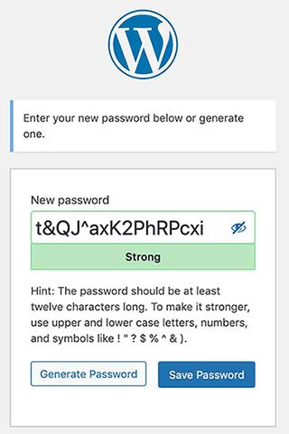 wordpress 5.7 new reset password screen
