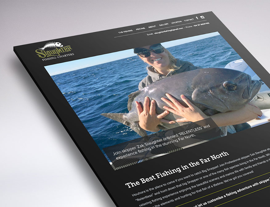 Website design of Slaughter Fishing