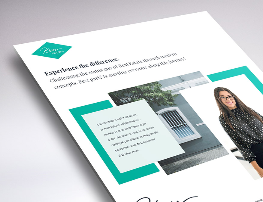one page website design for Kim Brown