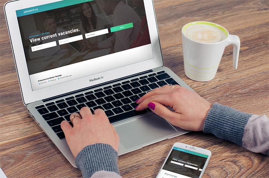 screenshot of the WordPress website of jobserach.nz