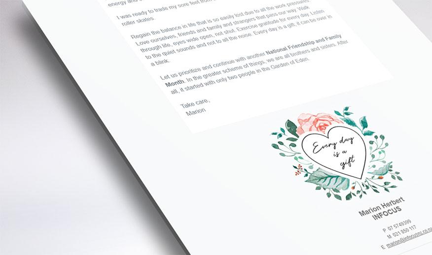 mailchimp newsletter for infocus